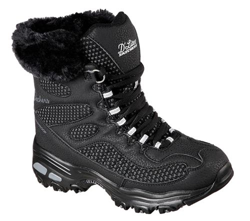 Skechers (Black) Snow Plaza D'Lites Womens Shoes - Canada 80GCOGI