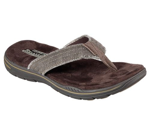 Skechers (Brown) Evented Arven Mens Sandals - Canada 43YJMSX