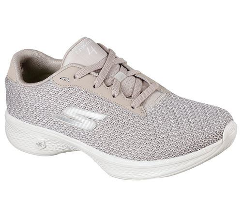 Skechers (Taupe) Gowalk 4 Glorify Womens Performance Shoes - Canada 69RIDYG