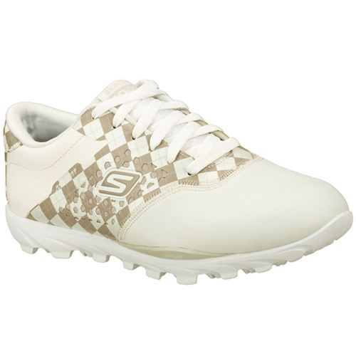 Skechers (White/Brown) Go Golf Womens Boots - Canada 37QPLPO